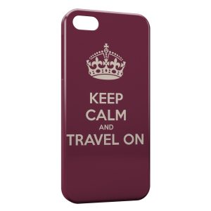 Coque iPhone 5/5S/SE Keep Calm and Travel On