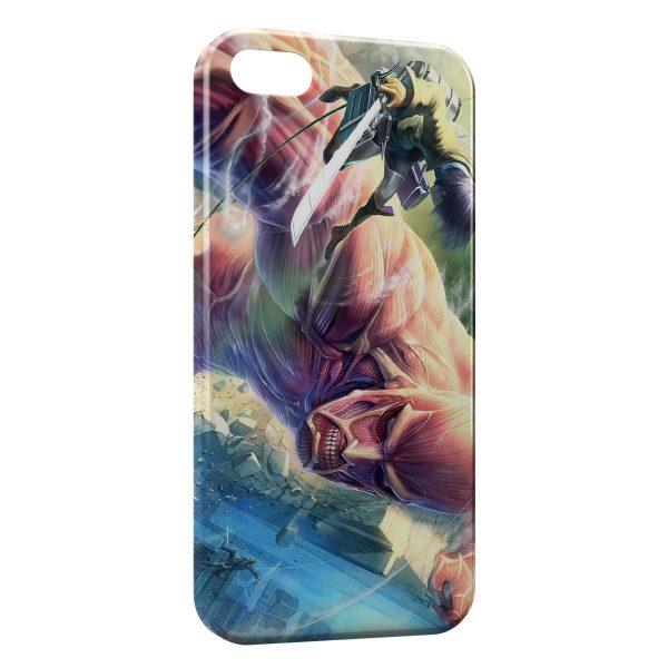 Coque iPhone 5/5S/SE L'Attaque des Titans 3