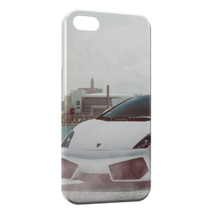 Coque iPhone 5/5S/SE Lamborghini Blanche