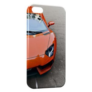 Coque iPhone 5/5S/SE Lamborghini Orange