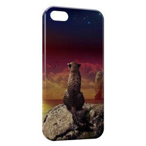 Coque iPhone 5/5S/SE Leopard & Sea