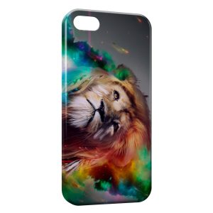 Coque iPhone 5/5S/SE Lion Abstract