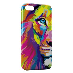 Coque iPhone 5/5S/SE Lion Colorfull