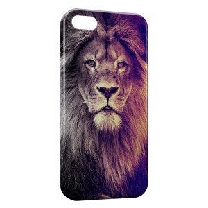 Coque iPhone 5/5S/SE Lion Colors Fun