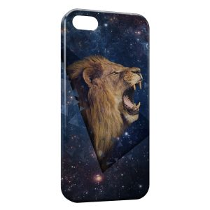 Coque iPhone 5/5S/SE Lion Design Style Galaxy