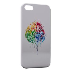 Coque iPhone 5/5S/SE Lion Paint Art