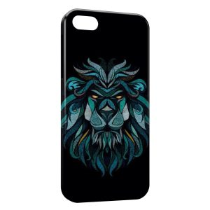 Coque iPhone 5/5S/SE Lion Style Design Blue