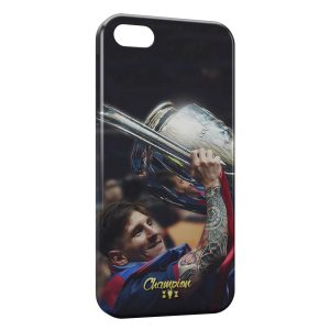 Coque iPhone 5/5S/SE Lionel Messi Football Champion