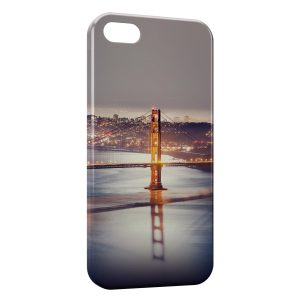 Coque iPhone 5/5S/SE Long Bridge at Night