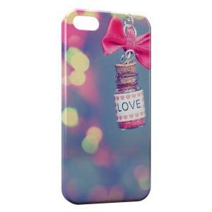 Coque iPhone 5/5S/SE Love Vintage Flacon Rose