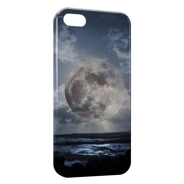 Coque iPhone 5/5S/SE Lune & Mer
