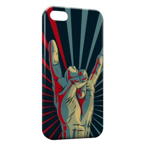 Coque iPhone 5/5S/SE Metal Rock Roll Hand Main
