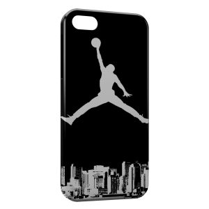 Coque iPhone 5/5S/SE Michael Jordan Basket Logo White & Black