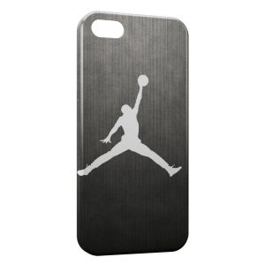 Coque iPhone 5/5S/SE Michael Jordan Basket Logo White & Grey
