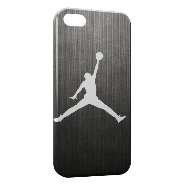 Coque iPhone 5/5S/SE Michael Jordan Basket Logo White & Grey