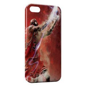 Coque iPhone 5/5S/SE Michael Jordan Chicago Bulls Art 3
