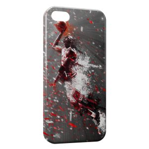 Coque iPhone 5/5S/SE Michael Jordan Chicago Bulls Art 4