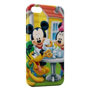 Coque iPhone 5/5S/SE Mickey Minnie Pluto 3