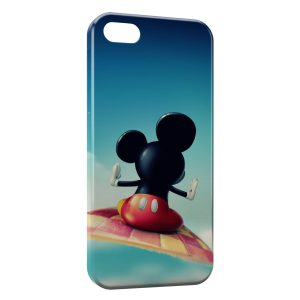 Coque iPhone 5/5S/SE Mickey tapis volant