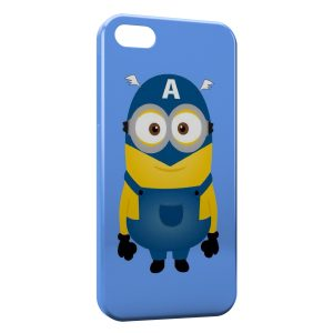 Coque iPhone 5/5S/SE Minion Captain America