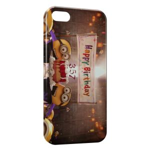 Coque iPhone 5/5S/SE Minion Happy Birthday