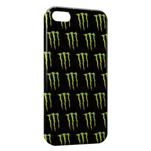 Coque iPhone 5/5S/SE Monster Energy Mosaique