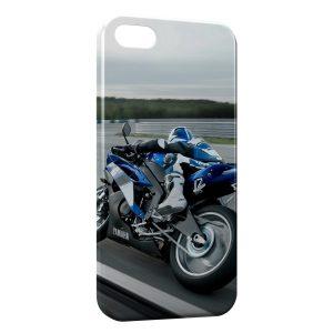 Coque iPhone 5/5S/SE Moto Rider Blue 3