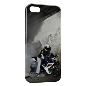 Coque iPhone 5/5S/SE Moto Sport Burn