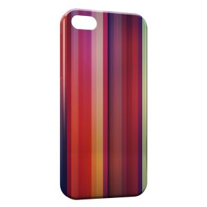 Coque iPhone 5/5S/SE Multicolor Lines Style