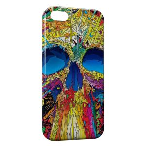 Coque iPhone 5/5S/SE Multicolor SF Tete de Mort
