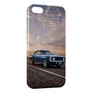 Coque iPhone 5/5S/SE Mustang Bleue