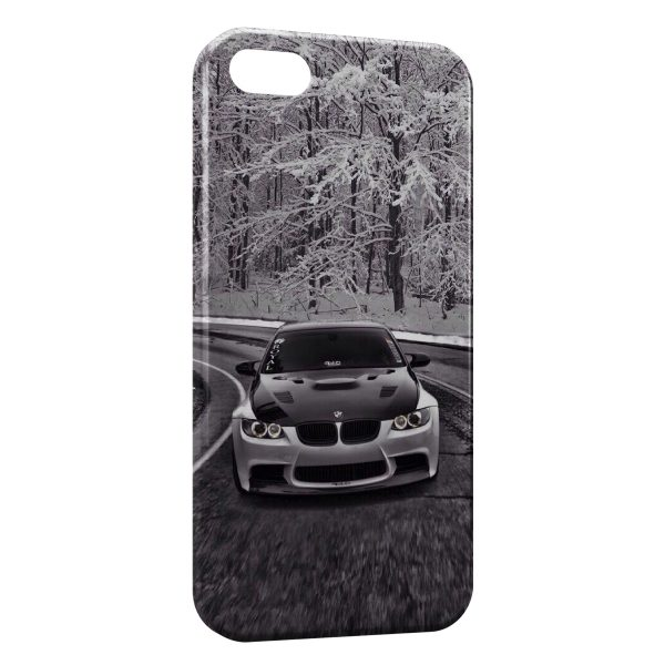 Coque iPhone 5/5S/SE Neige & BMW voiture