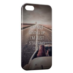 Coque iPhone 5/5S/SE Not Giving Up Just Starting Over