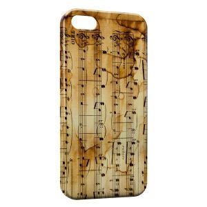 Coque iPhone 5/5S/SE Notes de Musique