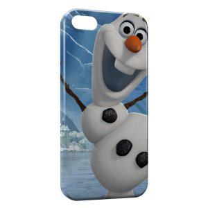 Coque iPhone 5/5S/SE Olaf Reine des neiges bonhomme de neige