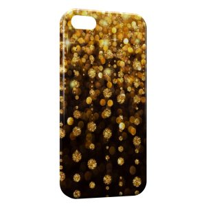 Coque iPhone 5/5S/SE Or & Diamants