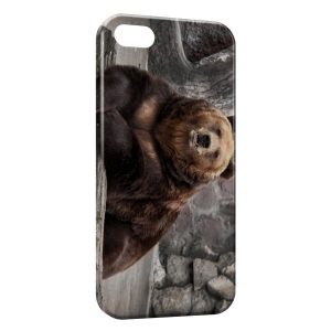 Coque iPhone 5/5S/SE Ours Brun