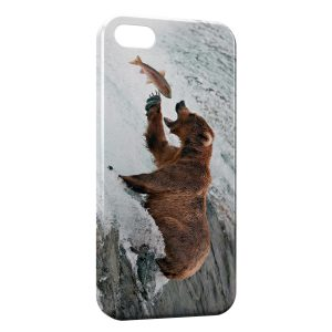 Coque iPhone 5/5S/SE Ours Brun & Poisson