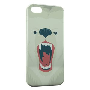 Coque iPhone 5/5S/SE Ourson Blanc