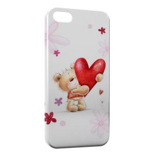 Coque iPhone 5/5S/SE Ourson Coeur Minion