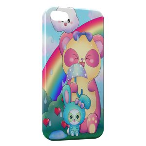 Coque iPhone 5/5S/SE Ourson et lapin