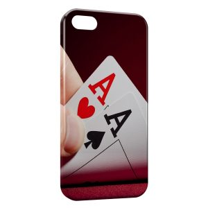 Coque iPhone 5/5S/SE Paire d'AS Poker