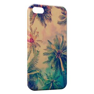 Coque iPhone 5/5S/SE Palmier Vintage