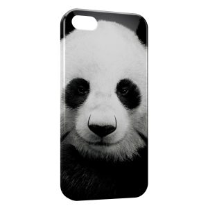 Coque iPhone 5/5S/SE Panda Black White 3
