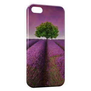 Coque iPhone 5/5S/SE Paysage Lavande