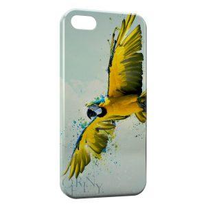 Coque iPhone 5/5S/SE Perroquet Yellow