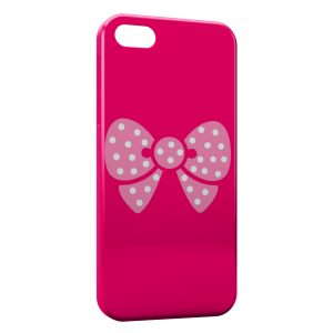 Coque iPhone 5/5S/SE Petit Noeud Rose Cute