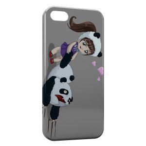Coque iPhone 5/5S/SE Petite Fille & Panda