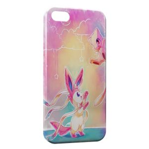 Coque iPhone 5/5S/SE Pikachu Mewtwo Pokemon Art