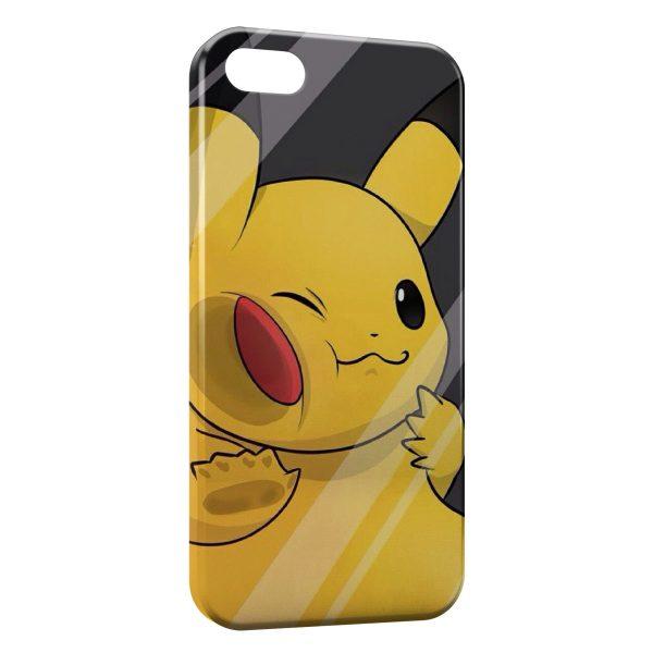 Coque iPhone 5/5S/SE Pikachu Pokemon 3